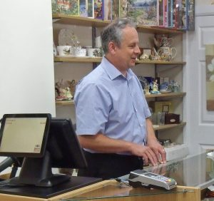 CEO Jonathan Holyhead at Dorset Blind Association shop, Ferndown.