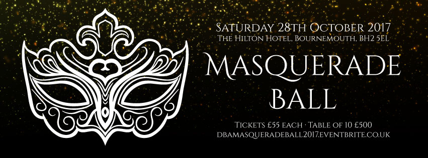 Our 3rd Masquerade Ball Will Take Place On Saturday 28th October 2017 The Event Be Held At New Location Of Hilton Hotel Bournemouth